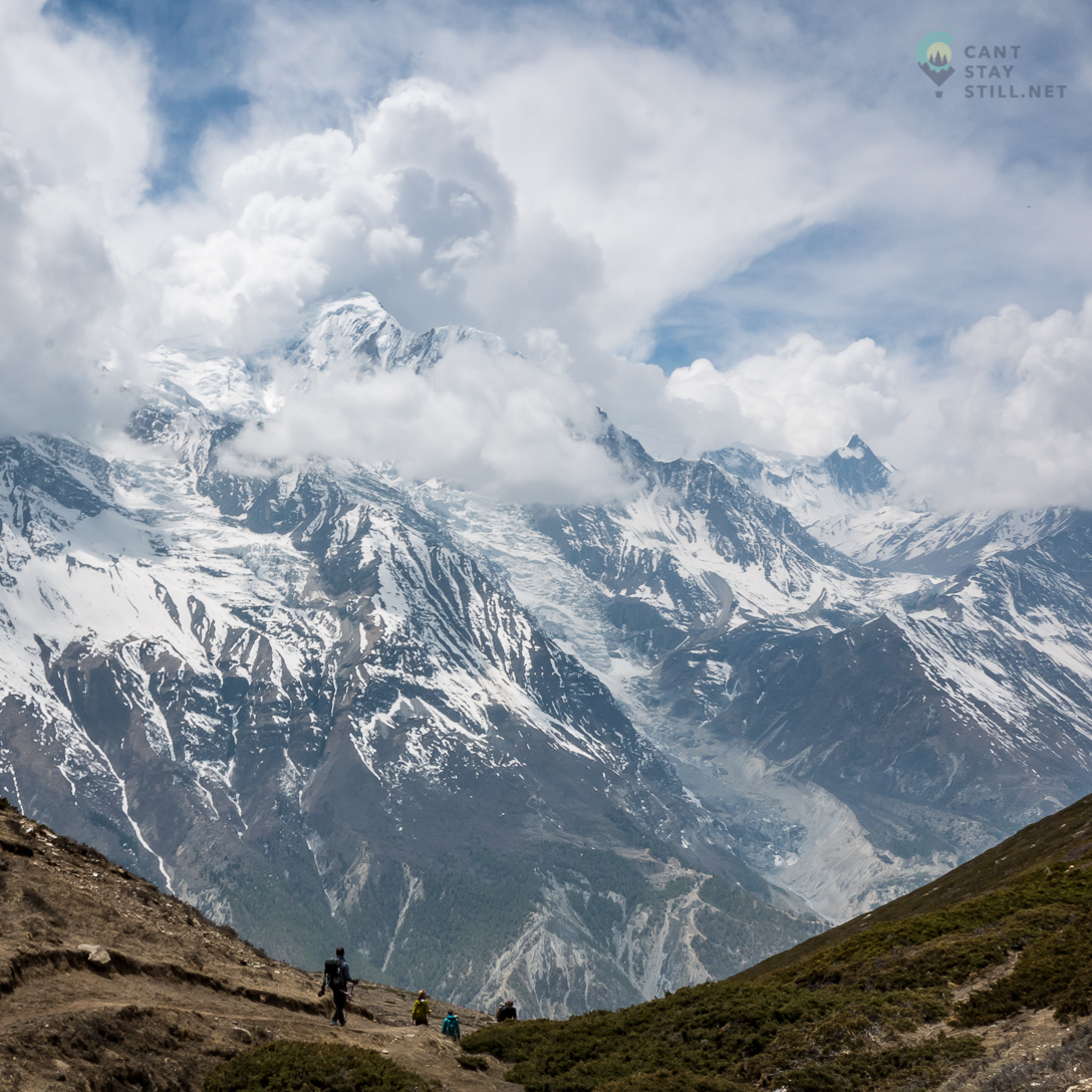 the views on the way to the Ice Lake in the Annapurna Circuit are some of the best on the trek