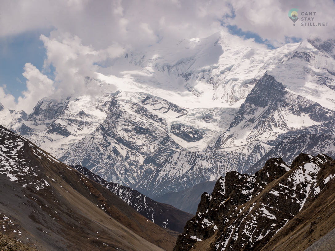the view from High Camp of Thorong La Pass on the Annapurna Circuit