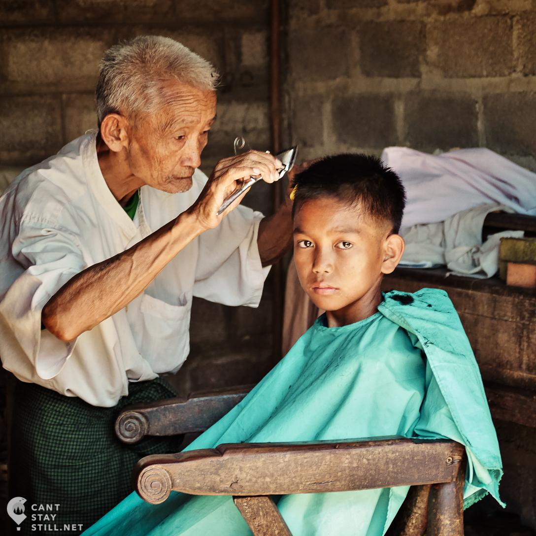 life on the streets of Nyaung Shwe, Myanmar