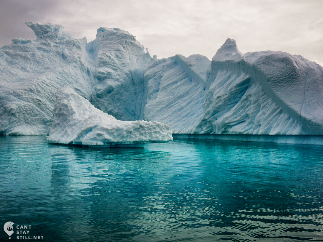 iceberg in the green waters of Antarctica