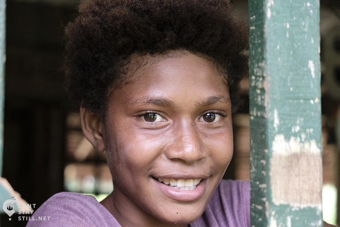 portrait of girl in New Ireland, Papua New Guinea