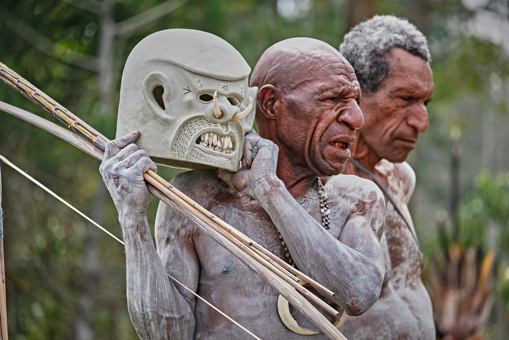 the famous Asaro Mudmen at the Mt. Hagen Show in Papua New Guinea PNG