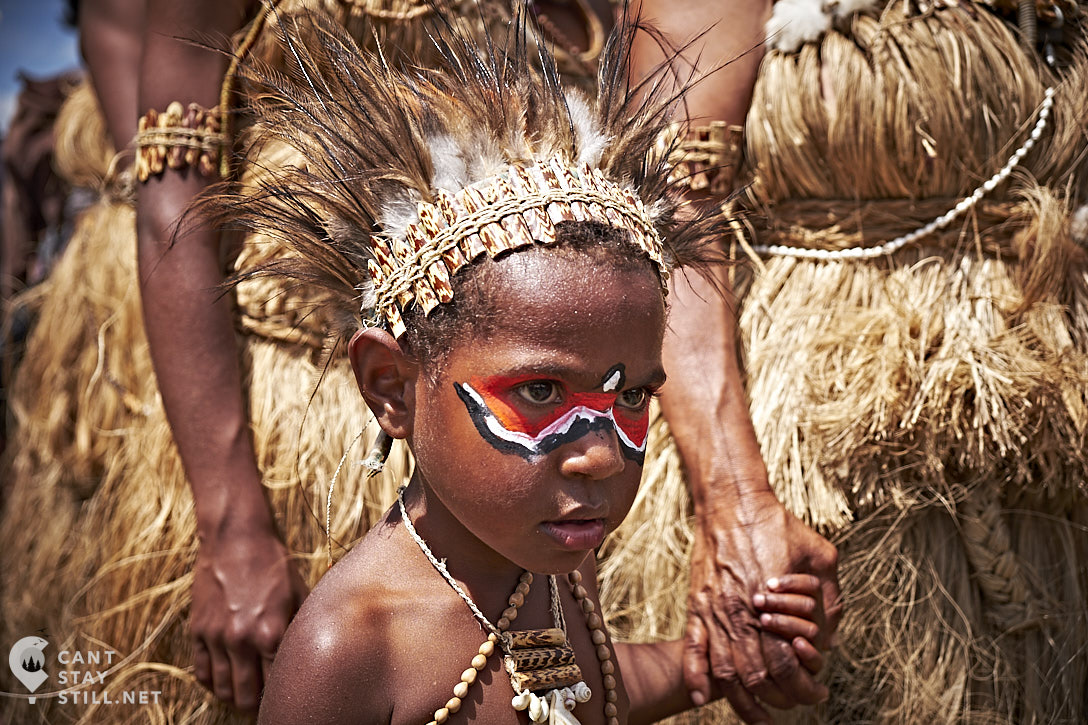 child portrait at the Mt. Hagen Show in Papua New Guinea PNG