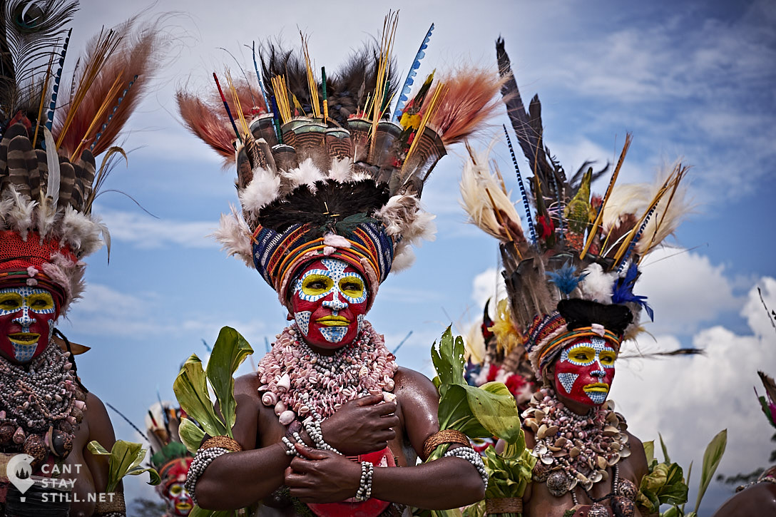 women at the Mt. Hagen Show in Papua New Guinea PNG