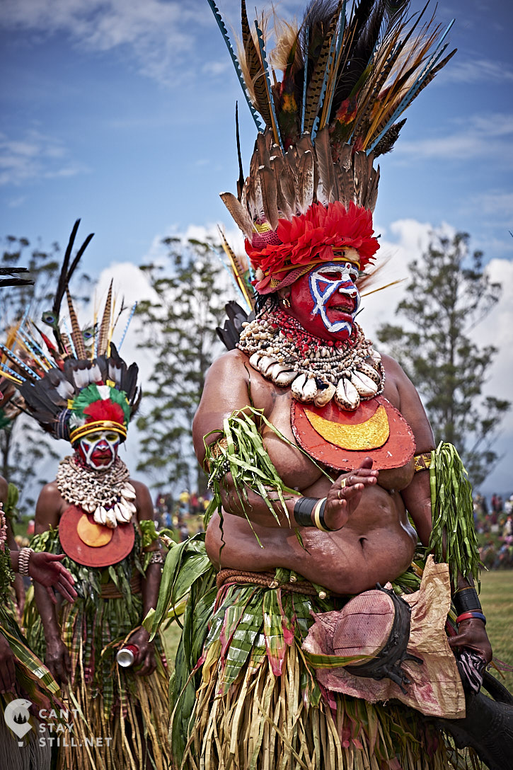 woman at the Mt. Hagen Show in Papua New Guinea PNG