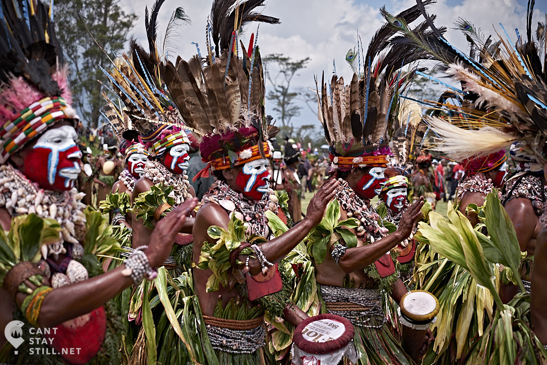 sing-sing group at the Mt. Hagen Show in Papua New Guinea PNG