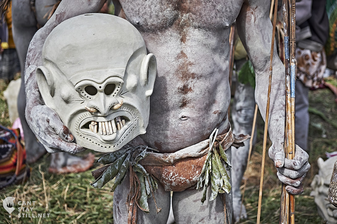 mudman mud mask at the Mt. Hagen Show in Papua New Guinea PNG
