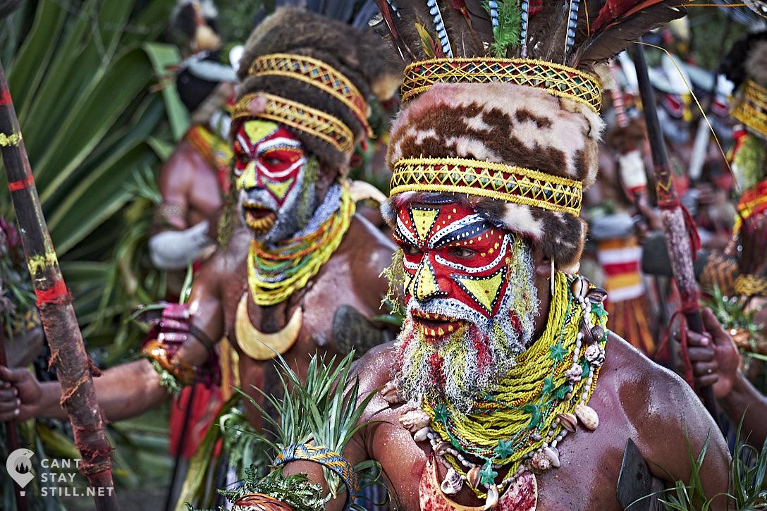 facepaint portrait at the Mt. Hagen Show in Papua New Guinea PNG