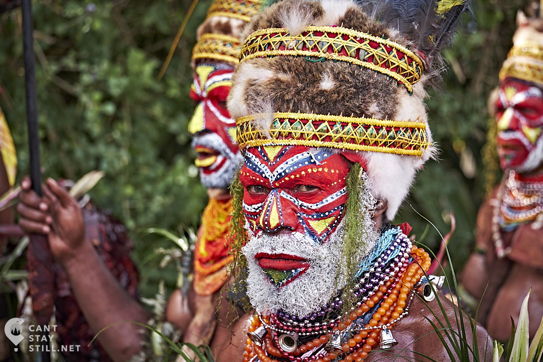 portrait at the Mt. Hagen Show in Papua New Guinea PNG