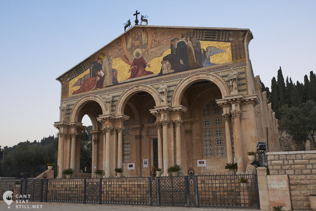 Just outside of the old town and next to the Gethsemane Garden is The Church of All Nations. A relatively new church (only one century old) that owes it's construction to the donations from over 15 countries, hence the name.